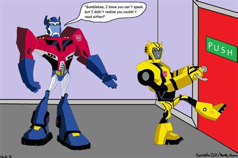 Robot Warrior Bumble Bee Limited tfa optimus prime and bumblebee by bumble217 on deviantart