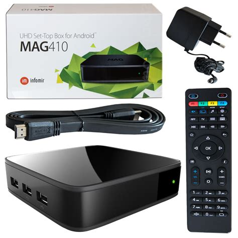 iptv android mag 410 iptv android multimedia player android stalker infomir ip tv box 2gb ram 4260443570775