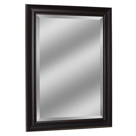 deco mirror 47 in x 37 in framed wall mirror in espresso