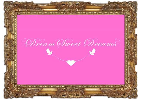 Sweety Gold Xl 26 sweet dreams pink text quotes mural