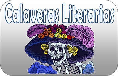 imagenes de calaveras literarias inventadas calaveras literarias material educativo