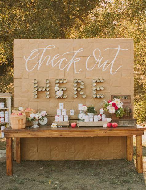 wedding unique backdrop california orchard wedding twinkle toast
