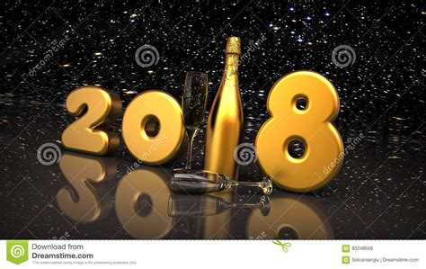 imagenes en movimiento año nuevo 2018 feliz a 241 o nuevo 2018 stock de ilustraci 243 n imagen de rinda