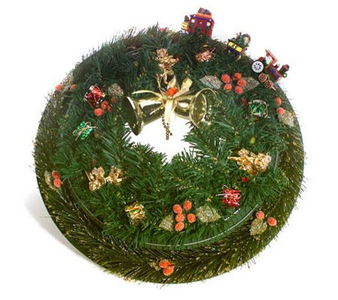 motion activated christmas decorations motion activated wreath qvc