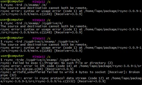 better than rsync windows unable to rsync to another volume with git bash