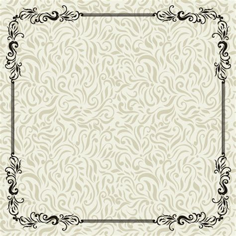 vintage pattern ai vintage decoration pattern with frame vector free vector