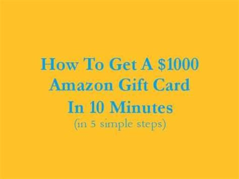 How Do I Get A Amazon Gift Card - how to get a 1000 amazon gift card in 10 minutes us