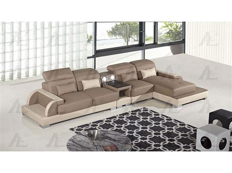 camel faux leather sofa 4pcs camel and cream faux leather left chaise sectional
