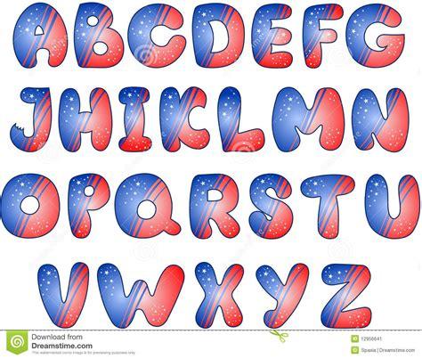 lettere alfabetiche stilizzate alfabeto stilizzato della bandiera americana immagine