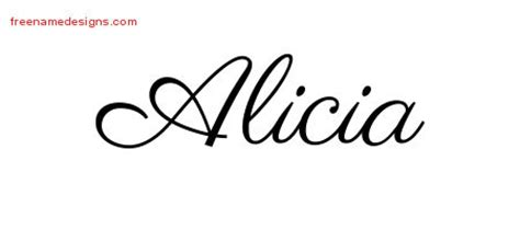 alicia archives free name designs