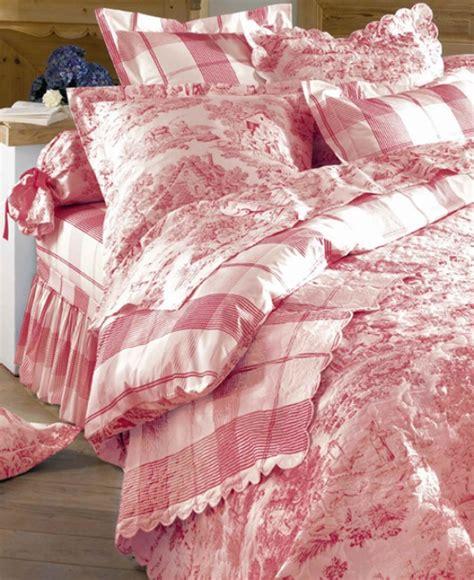 linge de lit toile de jouy boutis couvre lit toile de jouy 100 perca
