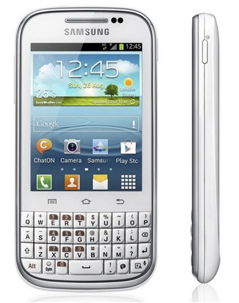 Samsung Android Qwerty Keyboard Samsung Galaxy Chat Qwerty Android Phone Itech News Net