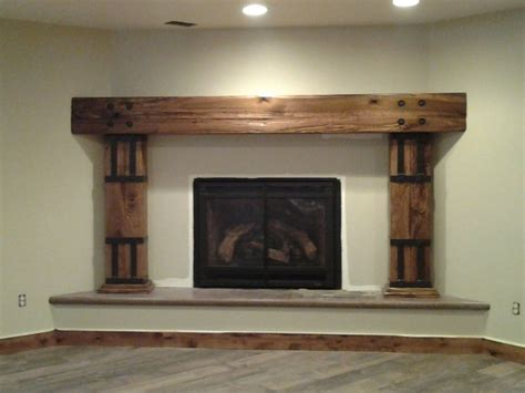 wood grain carved fireplace mantel rustic fireplace