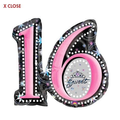 Sweet sixteen mylar year round designs balloons and balloon delivery by balloonplanet com