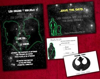 Star Wars Wedding Invitations Etsy Wars Save The Date Templates