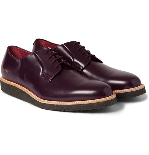 sole shoes common projects crepe sole leather derby shoes in for