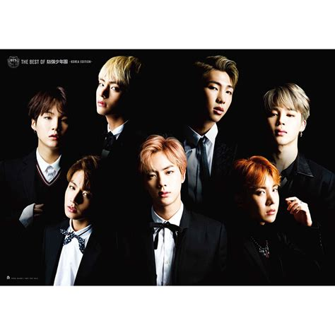 official the best of bts album cd dvd set poster korean ver kpop mall usa