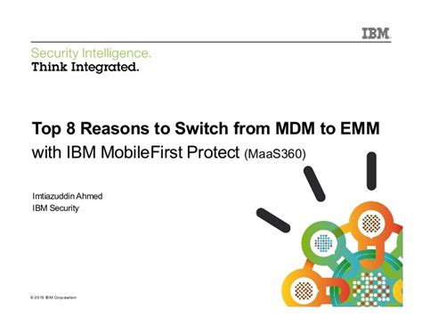 Top 8 Reasons To Tell The by Top 8 Reasons To Switch From Mdm To Emm