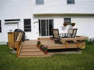 small decks here s a small backyard deck with a