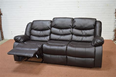3 seater brown leather recliner sofa clearance sorrento 3 seater brown leather recliner sofa