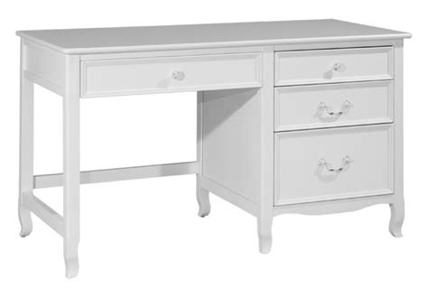 emma large pedestal desk white