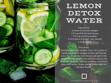 Water And Lemon Detox by 4 Infused Water Recipes To Keep Cool And Hydrated With
