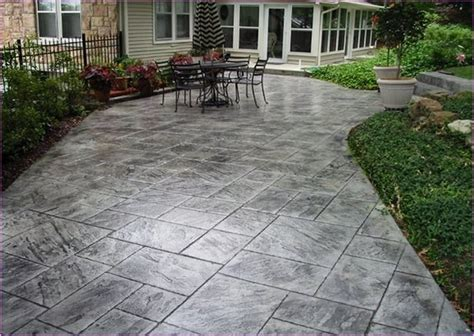 Cement Designs Patio Slate Sted Concrete Patio Lammy Sted Concrete Concrete Patios And Slate