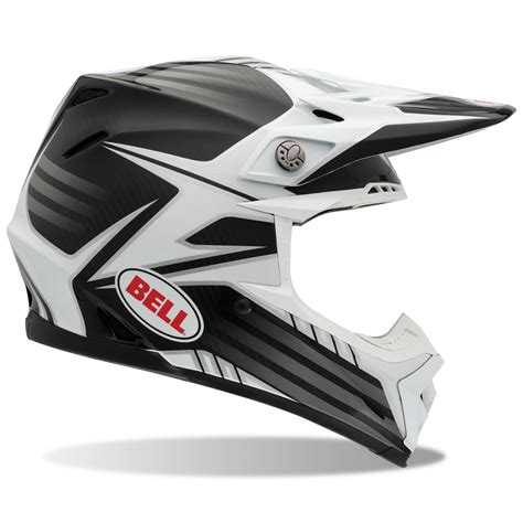 white motocross helmets bell moto 9 carbon fibre pinned white black motocross