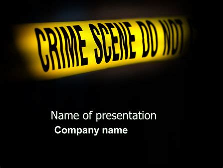 Crime Scene Presentation Template For Powerpoint And Keynote Ppt Star Murder Powerpoint Template