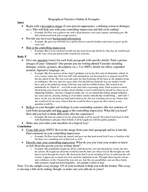 writing a narrative essay outline cover letter mla format