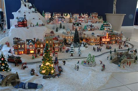 xmas village display setups gene s snow village pictures