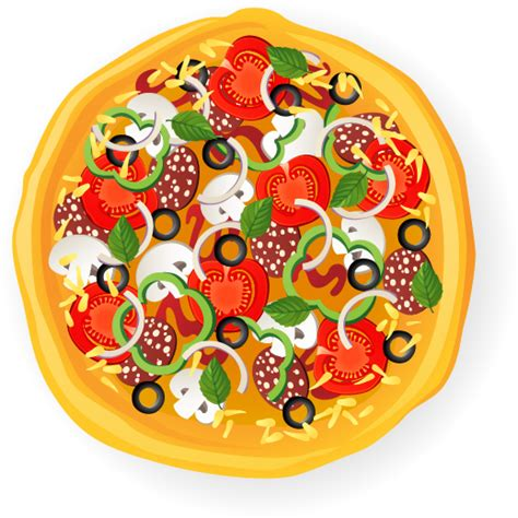 delicious pizza illustration vector material 03 vector