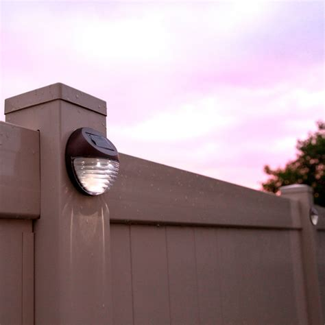 solar fence lighting brown solar fence lights set of 4 modern outdoor