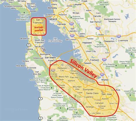 california map valley map of california silicon valley california map
