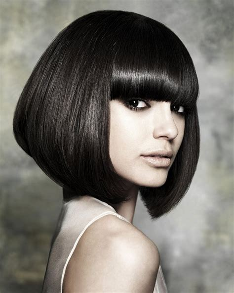 long wedge bob with bangs stylish wedge haircuts for short hair