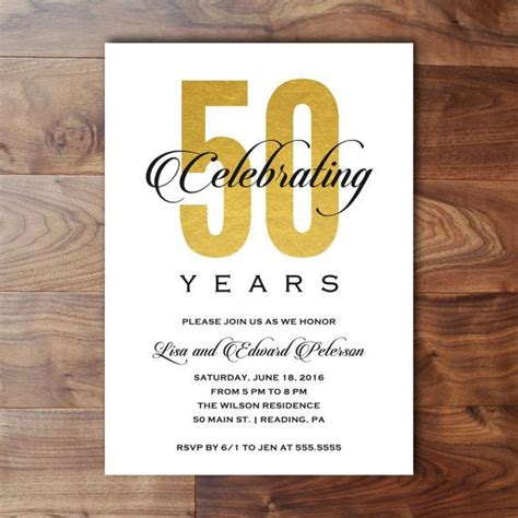 50th Wedding Invitation Cards by Best 25 Anniversary Invitations Ideas On 40