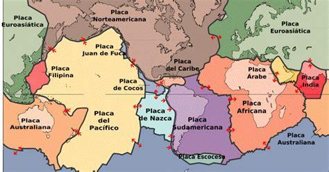 foto de las placas tectonicas manusoci geograf 237 a distribuci 243 n de las placas tect 243 nicas