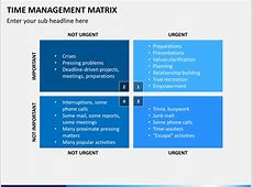 Time Management Matrix PowerPoint Template | SketchBubble Eisenhower