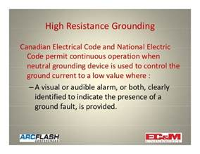 neutral earthing resistor hs code using high resistance grounding to mitigate arc flash hazards
