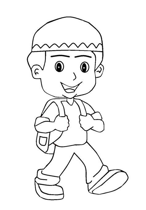 untuk anak gambar mewarnai anak muslim untuk anak paud dan tk aneka