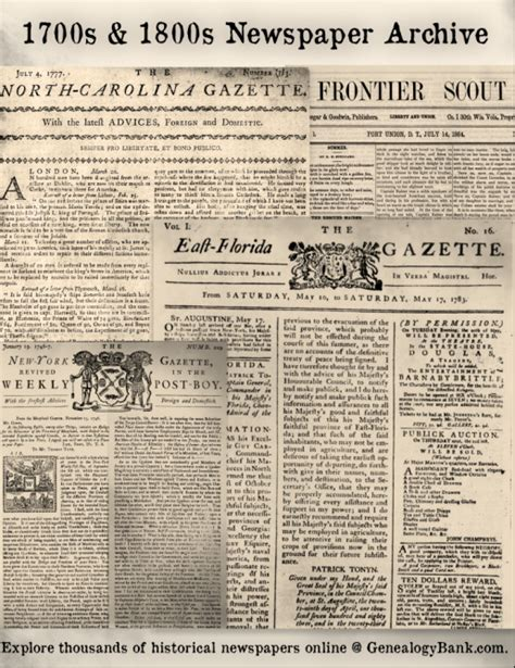 revolutionary war newspaper template massive 1700s 1800s