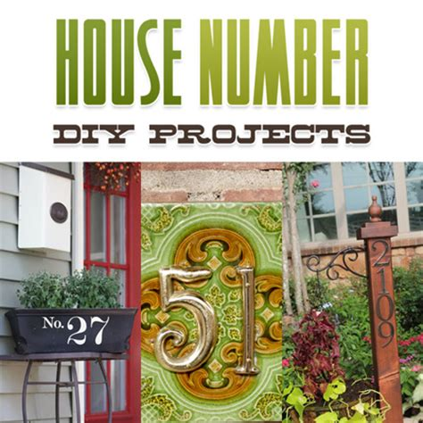diy house numbers house number diy projects the cottage market