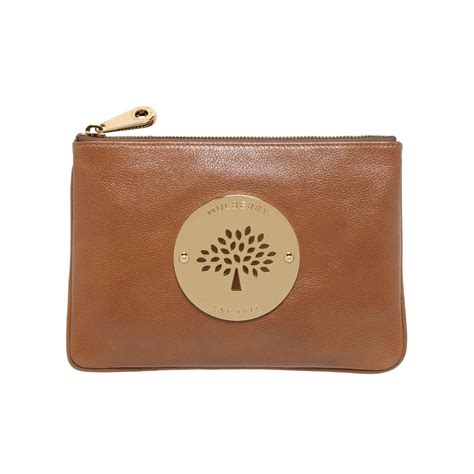 Mulberry Pouch lyst mulberry pouch in brown
