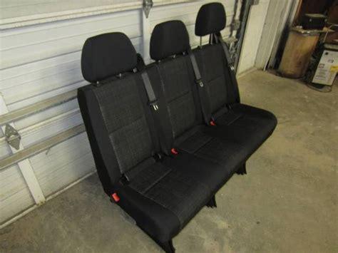 sprinter bench seat 14 16 mercedes benz sprinter van 3 passenger black cloth