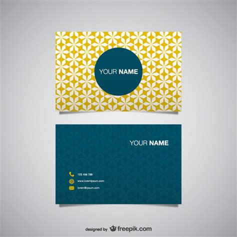 free downloads for card yellow polygonal business card vector free