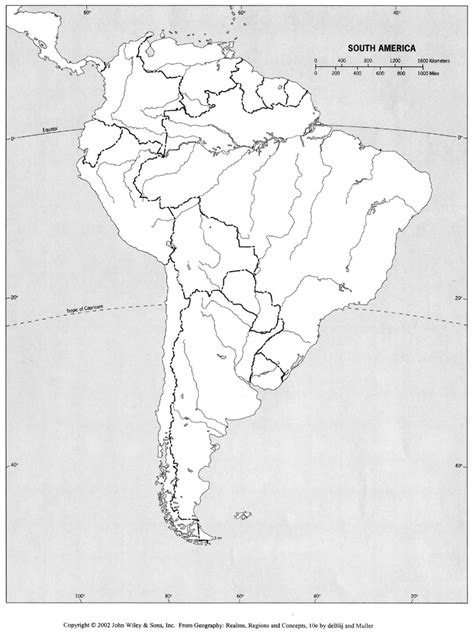 south america blank physical map blank physical map america