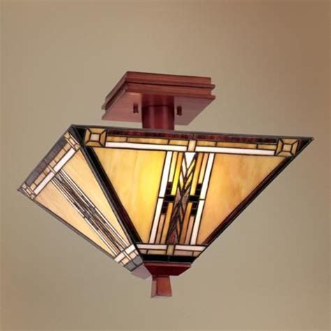 Walnut Mission Collection 14 Quot Wide Ceiling Light Fixture Mission Style Ceiling Light Fixtures