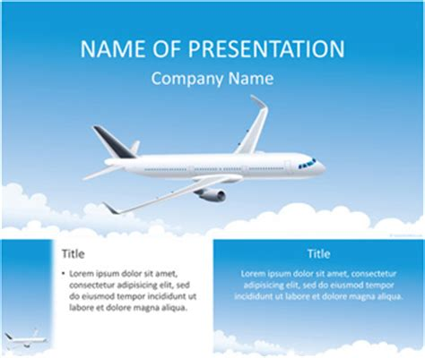 powerpoint templates free aviation airplane powerpoint template templateswise com
