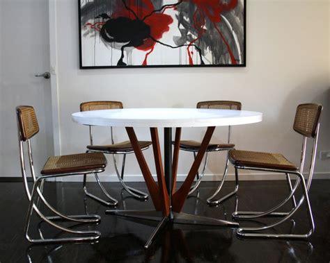 mid century modern retro and vintage furniture sydney and mid century teak laminex dining table chrome cane