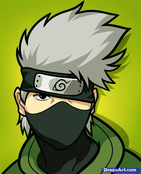 Drawing Kakashi by How To Draw Kakashi Easy Step By Step Characters